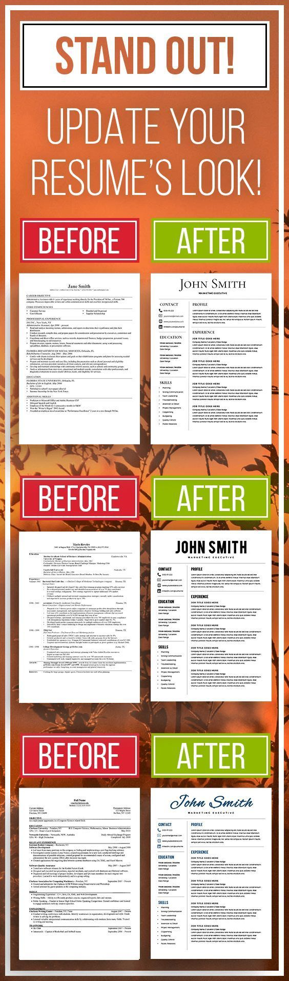 Microsoft Word Resume Templates including a Cover Letter and an Icon Set - 3 Page Pack - Instant Download