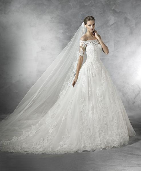 60 vestidos de noiva lindos com saia volumosa para 2016: estilo, glamour e elegância Image: 37