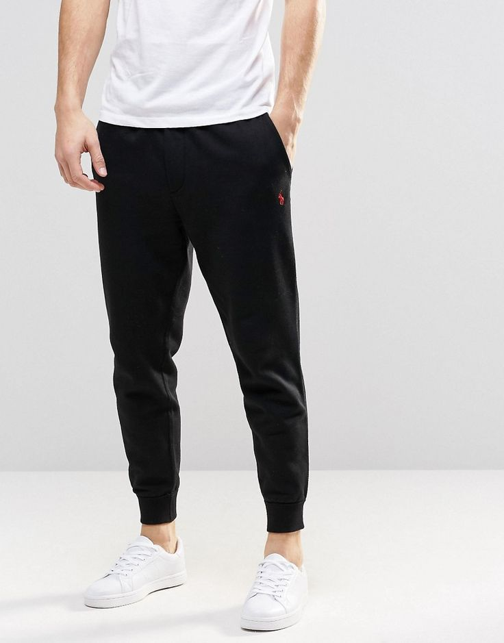 Image 1 ofPolo Ralph Lauren Sweatpants With Cuffed Bottom In Black