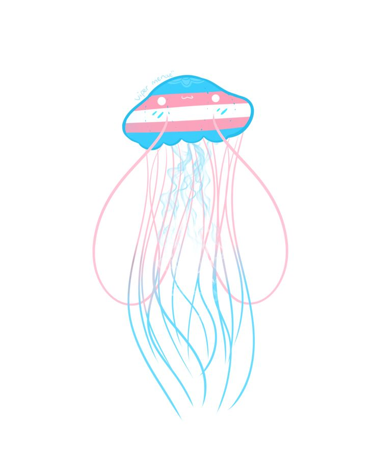 You can buy these as shirts or stickers without the watermark on my Redbubble! EDIT: I forgot to add the Pan Jellyfish! Lgbtq Flags, Transgender Ftm, Trans Boys, Trans Art, Gay Aesthetic, Lgbt Community, Pride, Rainbows, Saga