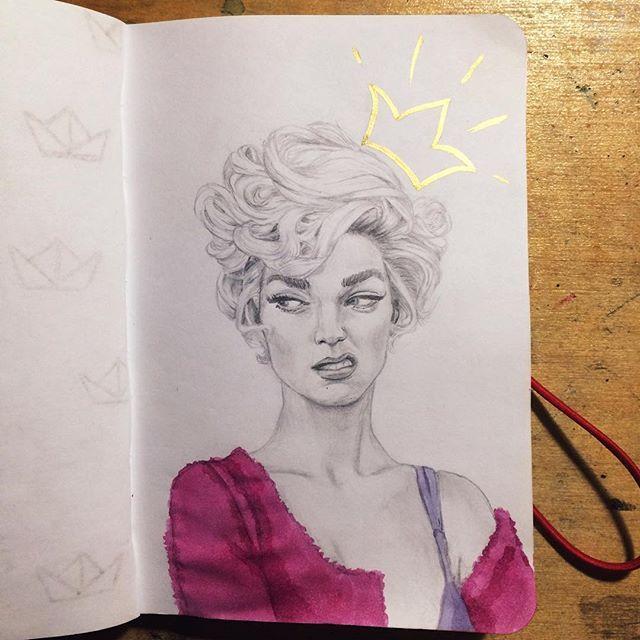 Ещё один день, ещё один портрет ...  #art #instaart #instaartist #instaartwork…