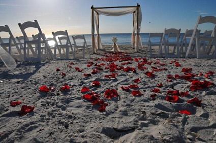 Beach wedding idea; Key West, FL