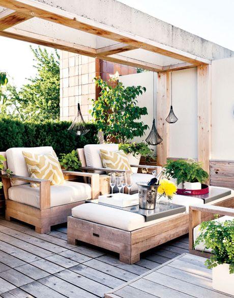 modern backyard lounge inspiration: modern outdoor space