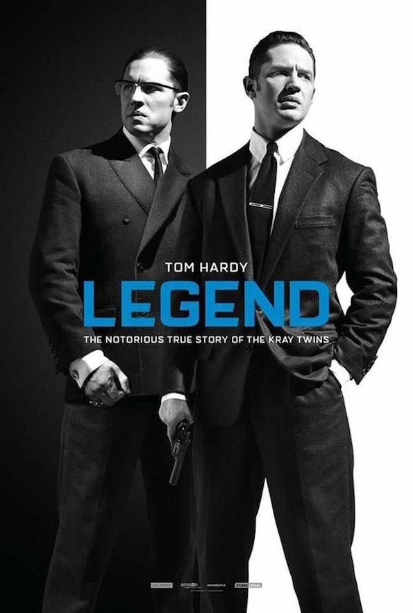 """Legend de B. Hegeland (2016 -Janv.). Rien de vraiment bluffant dans ce film de mafieux. Même si on retrouve une ambiance 50's  - 60's, ça manque de panache. Retournons voir """"Les incorruptibles !"""" entre Mouuuais et pourquoi pas !"""