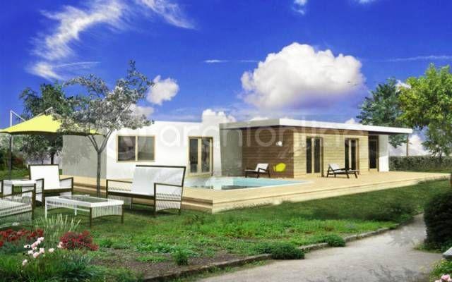 archionline vous pr sente une maison d 39 architecte contemporaine plain pied spacieuse et. Black Bedroom Furniture Sets. Home Design Ideas