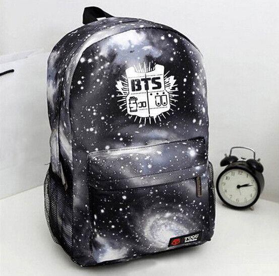 2015 Korean Women Backpack Printing BTS Backpack School Bags For Teenagers Waterproof Nylon Men's Backpack A861