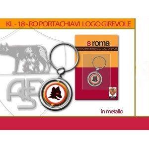 PORTACHIAVI IN METALLO CON LOGO GIREVOLE ROMA €7.49