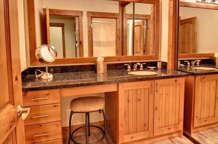 Bathroom Vanity With Seat New House Ideas Pinterest