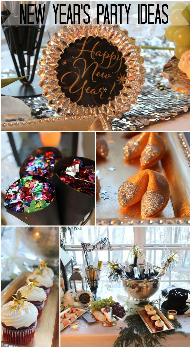 Need New Year's Eve party ideas? See more party ideas at CatchMyParty.com. #newyearseve