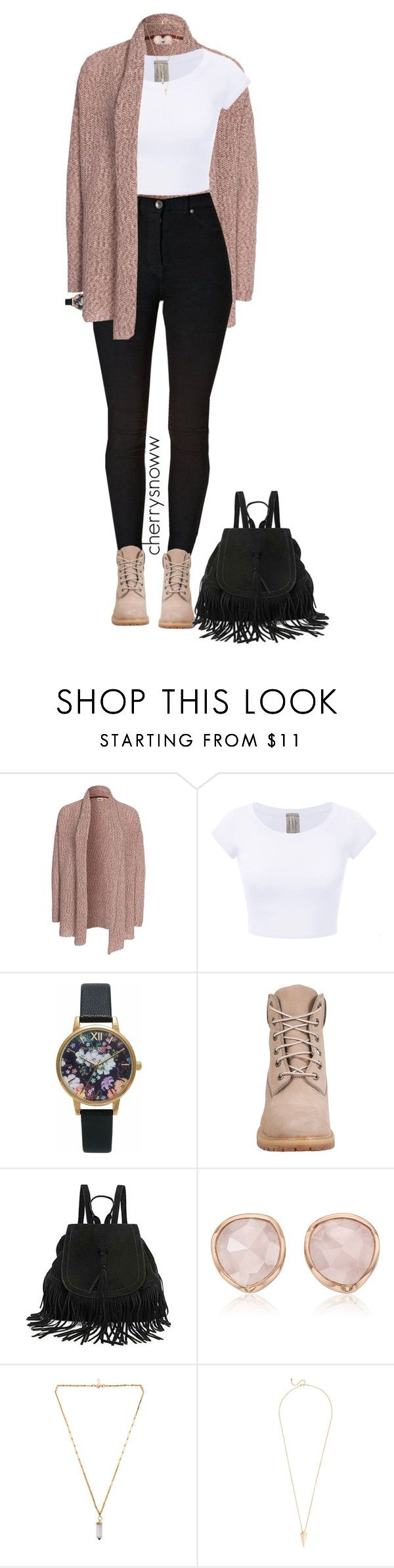 """""""Cute casual chic fall outfit"""" by cherrysnoww ❤ liked on Polyvore featuring Object Collectors Item, Olivia Burton, Timberland, The Code, Monica Vinader and Isabel Marant"""