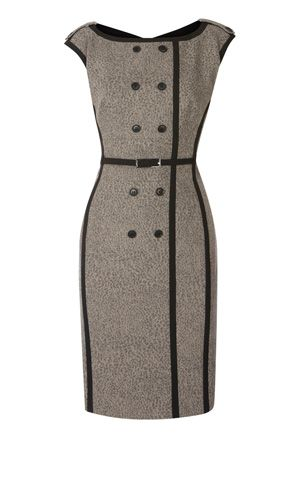 Karen Millen woolen subtle animal print dress.
