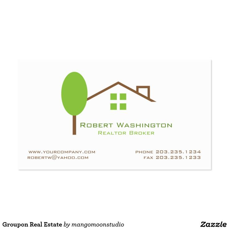 Groupon Real Estate Business Card