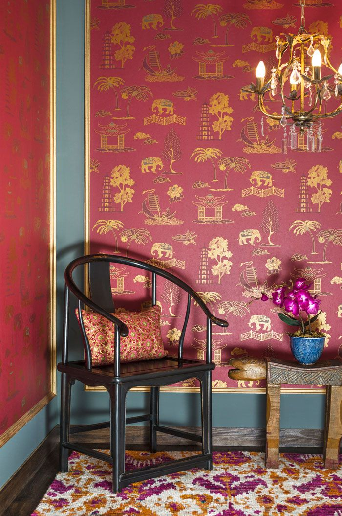 Good Earth Silk Route wallpaper for Asian Paints