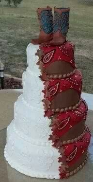 Awesome country wedding cake