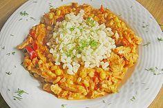 Putengeschnetzeltes mit Ebly in Ajvar - Sauce, ein leckeres Rezept aus der Kategorie Geflügel. Bewertungen: 15. Durchschnitt: Ø 4,4.