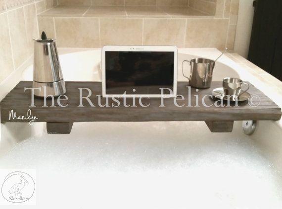 Rustic Bathtub Caddy-Wood Bathtub Tray  Bath by RusticPelican