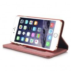 iPhone 6 6s Plus 5.5 - CaseMe Vintage Denim Material Stand Wallet Protective Phone Cover Case - Brown