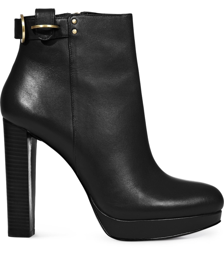 Reiss Bailly d-ring black booties