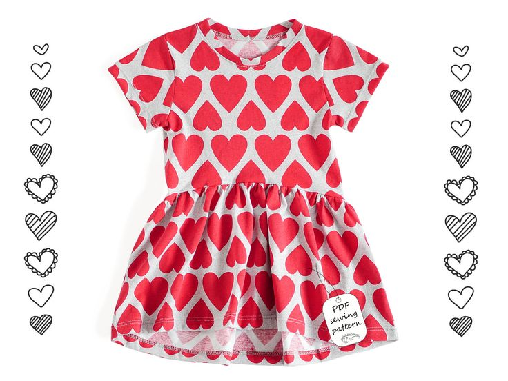 Girls dress Sewing Pattern PDF, dress pattern from 2 to 10 years