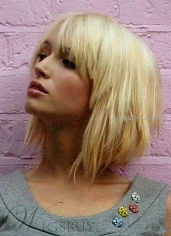 Layered Blonde Short Capless Wig 100% Human Hair 10 Inches… Layered Blonde Sh…