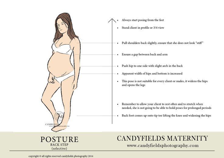 el uso de la postura para retratos embarazo y maternidad