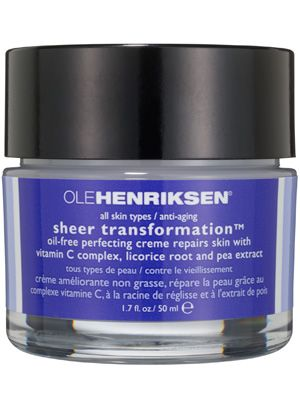 This oil-free Ole Henriksen Sheer Transformation face cream softens skin, improves texture, and leaves complexions noticeably brighter.