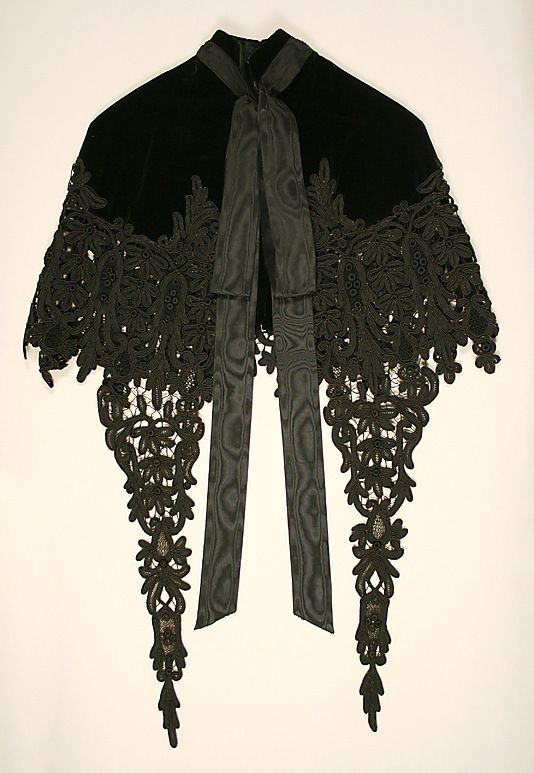 Cape.  House of Worth (French, 1858–1956).  Designer: Charles Frederick Worth (French (born England), Bourne 1825–1895 Paris). Date: 1880s. Culture: French.