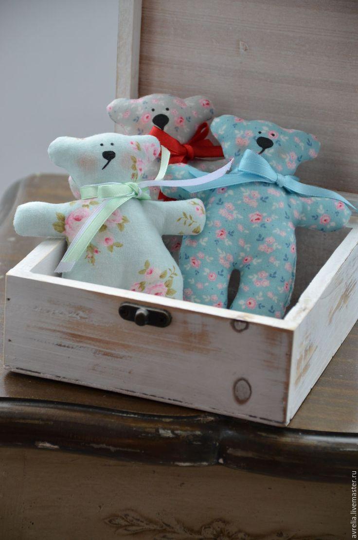 Купить Мишки тильда - пастель, пастельные тона, цветочный принт, цветочный рисунок, детство
