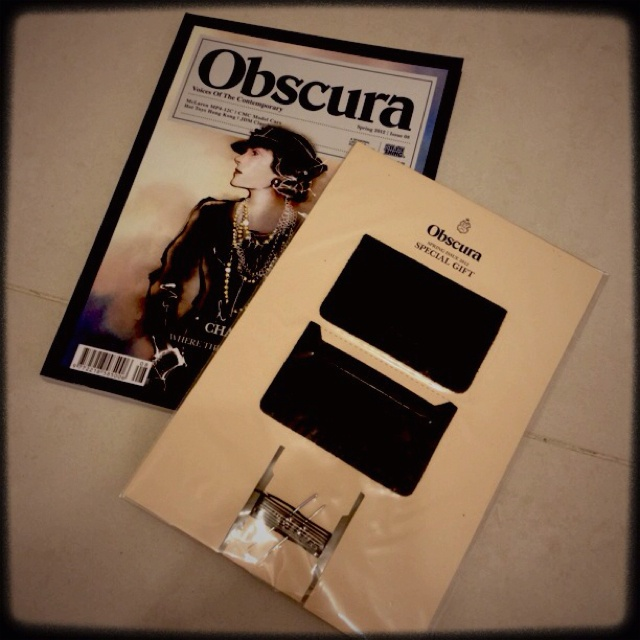 Obscura issue08 With DIY leather card holder