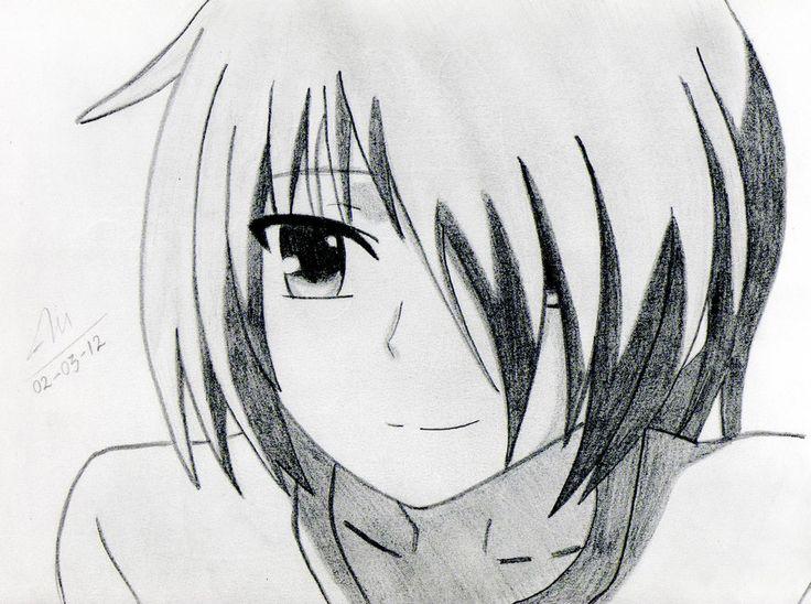 Easy anime drawings anime otonashi angel beats by mnekoi on deviantart