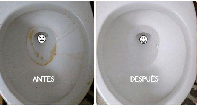 inodoro antes y despues limpieza ecológica del hogar