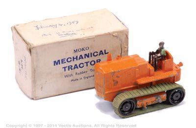 Matchbox Moko Caterpillar Tractor - Finished In Orange