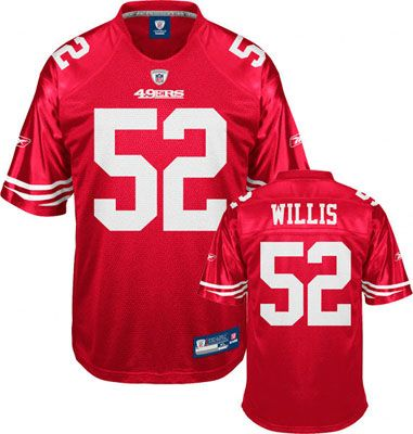 Reebok San Francisco 49ers Patrick Willis 52 Red Authentic Jersey Sale