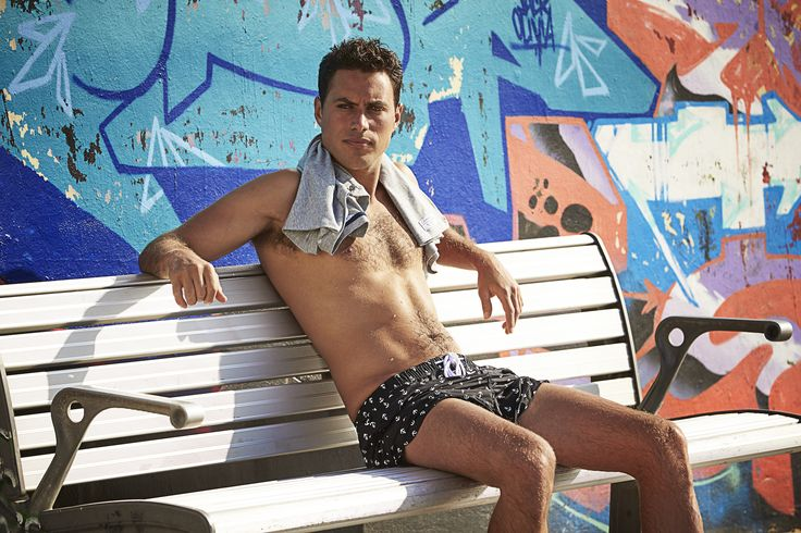 Penkivil Boxer Navy & White Anchor #campbellandhall #shorts #menswear #beach
