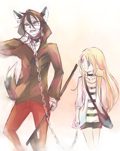 Angel of Slaughter 殺戮の天使 (Massacre Angel) (Satsuriku no Tenshi) 君が笑うまで #Anime #Manga #Game Fanart Ray (Rachel) and Zack