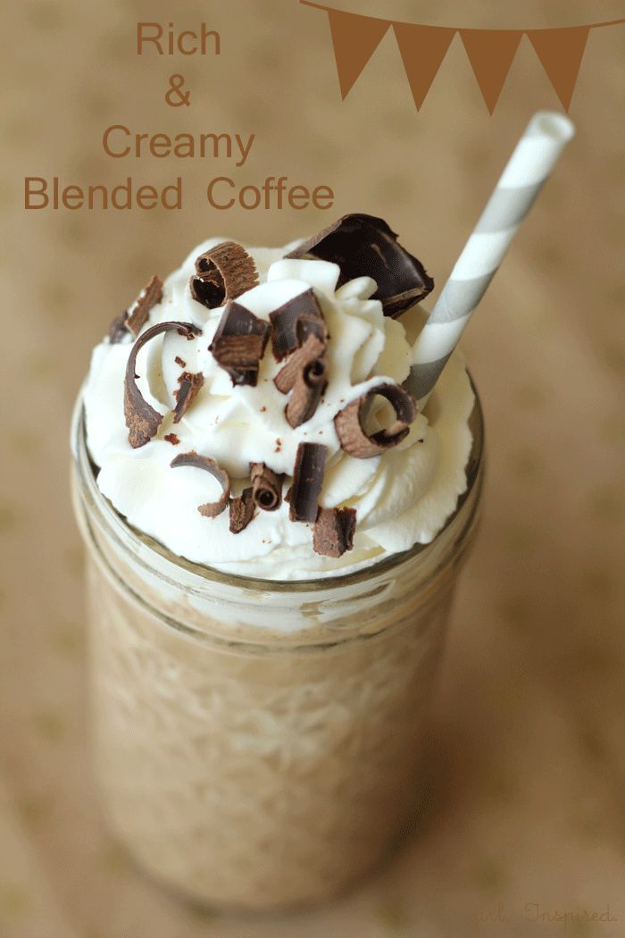 Rich and Creamy Blended Coffee Recipe &  Blendtec Giveaway!! Coffee drinks, coffee lover, coffee recipes