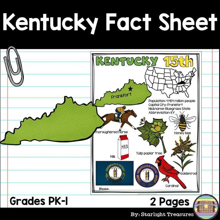 Kentucky fact sheet fact sheet numbers mini book