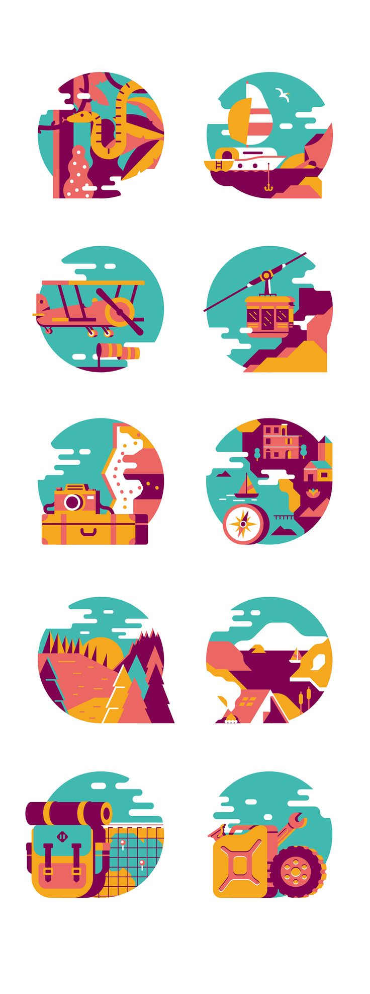 Travel Illustration spots by Fabrizio Morra