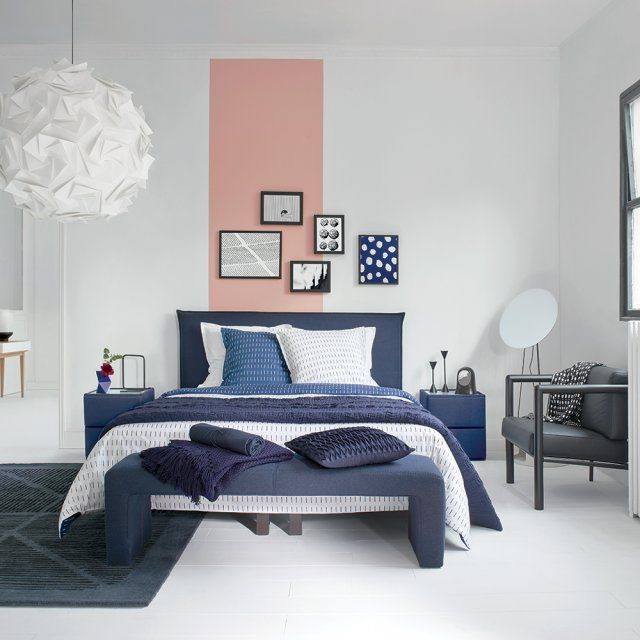 Les 25 meilleures id es de la cat gorie meubles bleu marin for Decoration de lit adulte