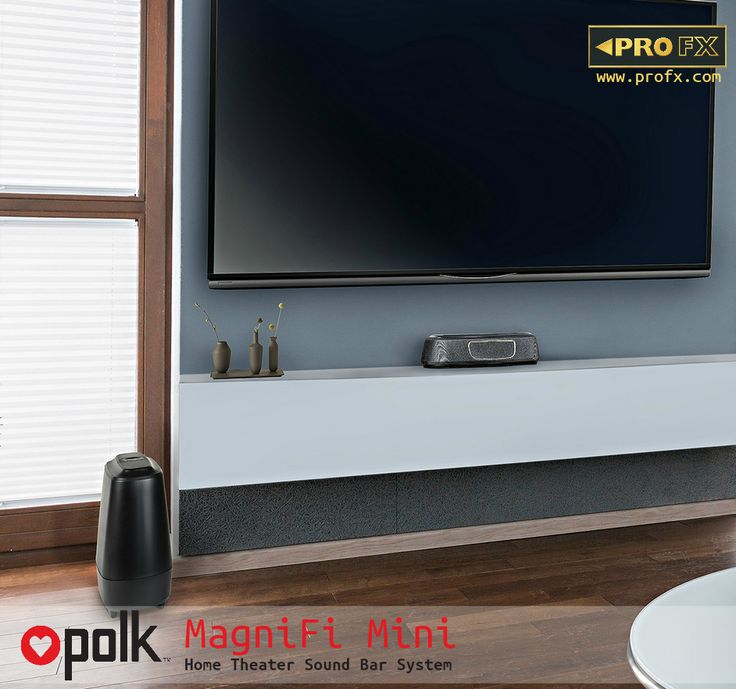 The MagniFi Mini delivers the big, room-filling home theater experience you'd expect from a full-size sound bar in an ultra-compact design. Compatible with most TVs, it's easy to set up and features Polk's Voice Adjust and surround sound technologies, ensuring crystal clear dialogue and immersive surround sound—plus an included wireless subwoofer for deep bass impact you can feel. Stream your favorite music through Bluetooth and Google Cast. #PolkAudio #LoveOutLoud #LovePolk #SoundBar…