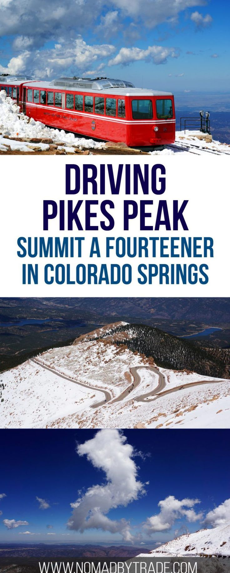 Everything you need to know about driving to the top of Pikes Peak in Colorado Springs, Colorado. Rocky Mountains | Things to do in Colorado Springs | Pikes Peak summit | Fourteeners | Colorado attractions | #Colorado | #ColoradoSprings | #PikesPeak
