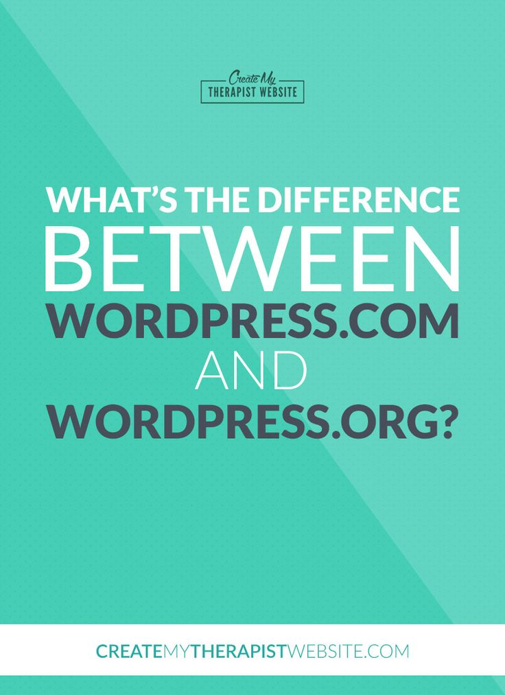 So, WordPress has two options for creating websites – one is found at wordpress.com and one is found at wordpress.org. What gives? In this article we'll talk about the difference between wordpess.com and wordpress.org to help you understand which platform may be right for your therapy website. Read it here: