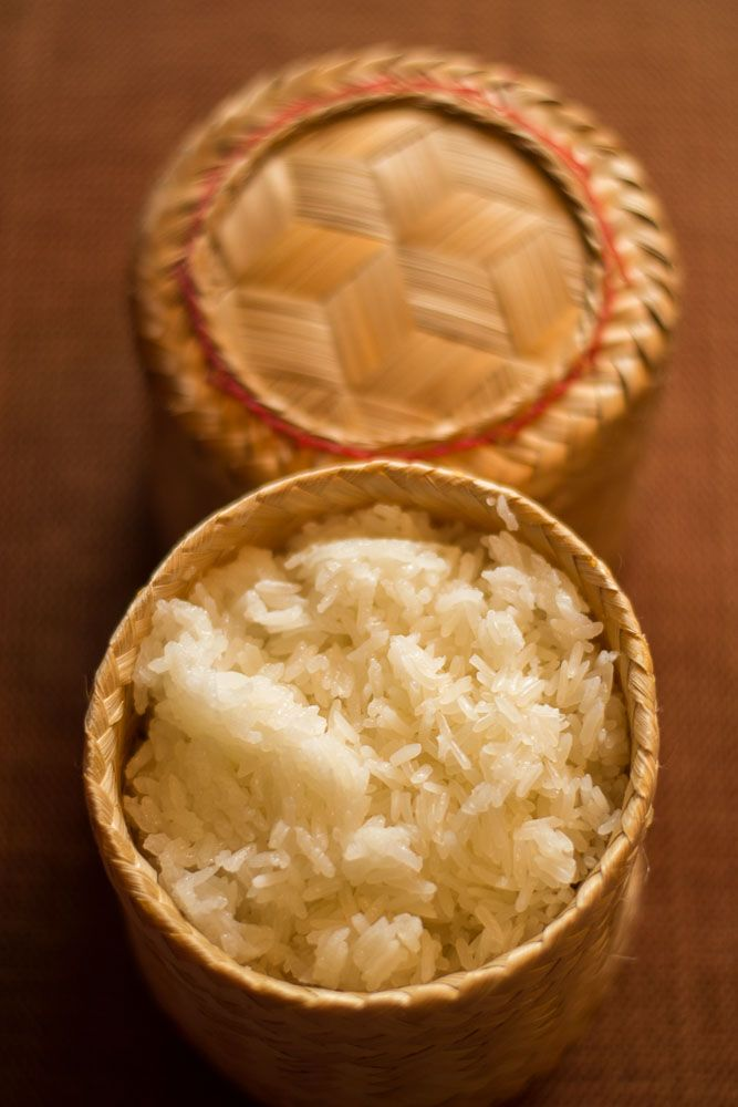 Sticky rice is a must have accompaniment to Thai food, especially the northeastern Issan dishes. Learn how to make it here.