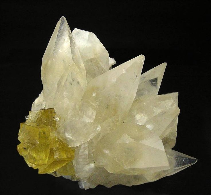 Calcite with Fluorite -- Moscona Mine, El Llano, Corvera de Asturias,  Spain