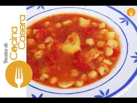 Sopa de garbanzos | Recetas de Cocina Casera - Recetas fáciles y sencillas