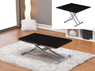 Tisch Stahl Clever – Höhenverstellbar. Hoch & runter: Clever macht alles mit! Maße Tisch zusammengeklappt: B 100 x T 57 x H 38cm. Maße Tisch aufgeklappt: B 100 x T 114 x H 76cm. Tischplatte Hochglanz. Zum Discountpreis bei Kauf-Unique.de