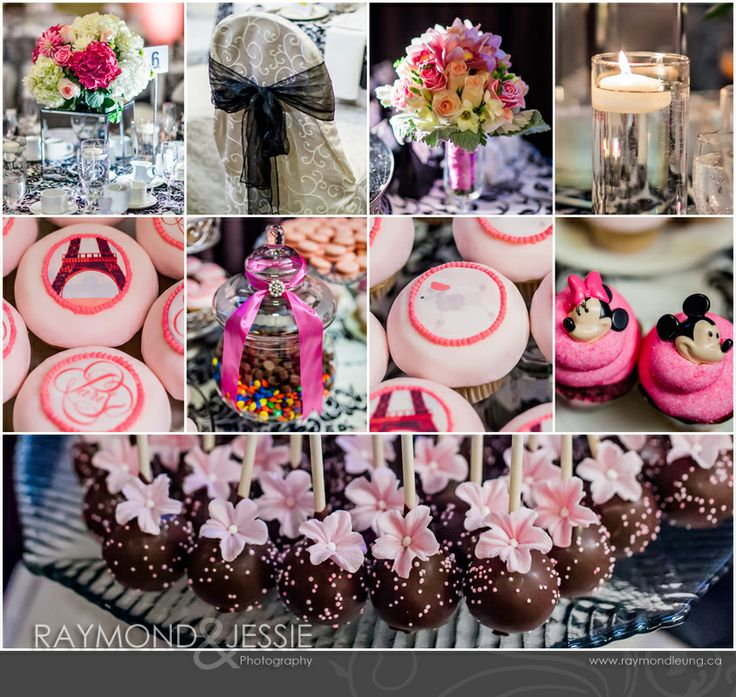 Parisien themed event, in HOT PINK!