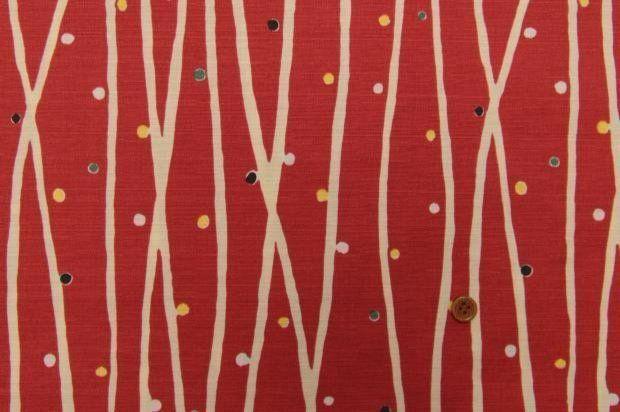 Stoff japanische Motive - Japanische Gewebe, Streifen, Tupfen, rot - ein Designerstück von Alleco bei DaWanda