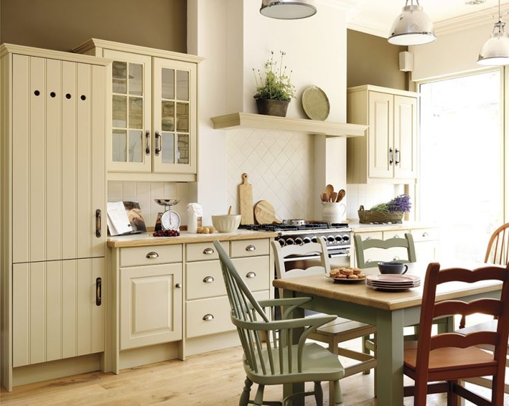 Green country style kitchens images for Great looking kitchens