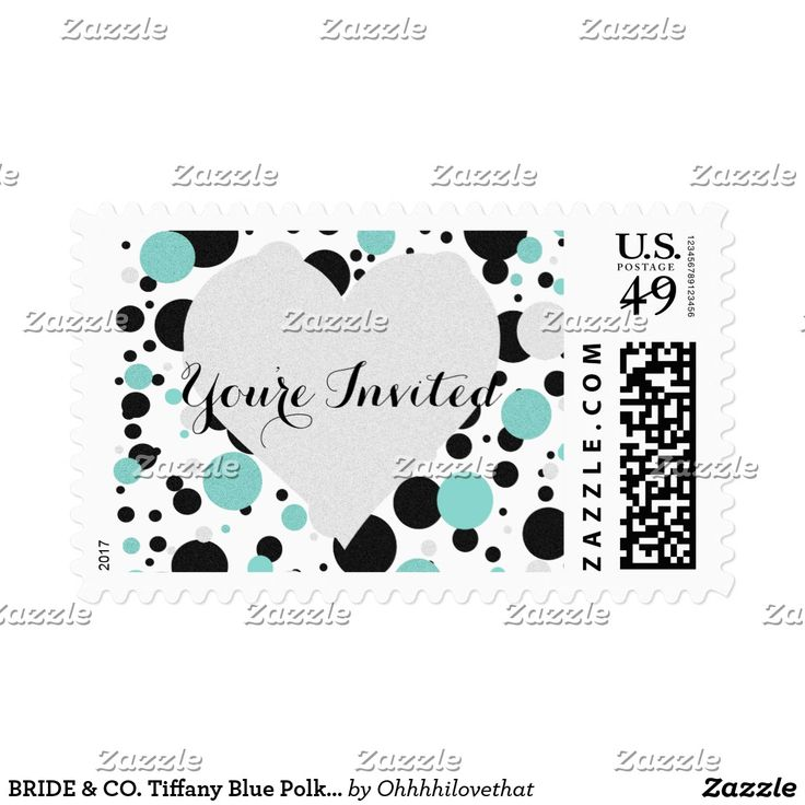 BRIDE & CO. Tiffany Blue Polka Dot Postage Sheet